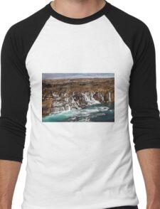 Bjarnafoss waterfall Men's Baseball ¾ T-Shirt