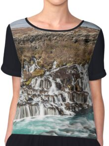 Bjarnafoss waterfall Chiffon Top