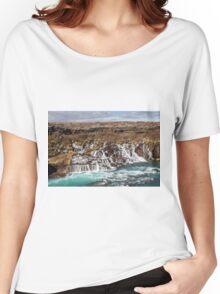 Bjarnafoss waterfall Women's Relaxed Fit T-Shirt