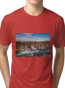 Bjarnafoss waterfall Tri-blend T-Shirt