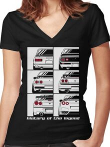 Nissan Skyline. History Women's Fitted V-Neck T-Shirt