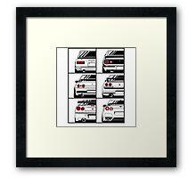 Nissan Skyline. History Framed Print