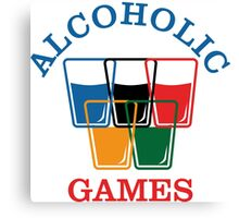 Alcoholic Games Canvas Print