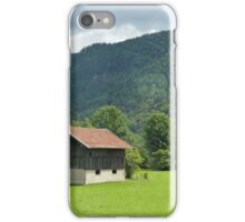 Shack in the Alps iPhone Case/Skin