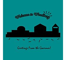 Welcome to Woodbury! Photographic Print
