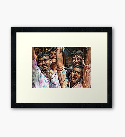 A Bunch of Men Framed Print
