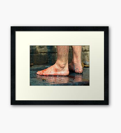 When the Color Goes Framed Print