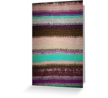 Striped Knit - Purple Greeting Card
