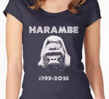HARAMBE 1999 - 2016 Women's Fitted Scoop T-Shirt
