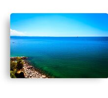 summer day at the beach in the gulf of Trieste Canvas Print