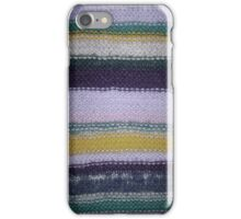 Striped Knit - Yellow iPhone Case/Skin