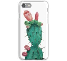 Opuntia in watercolors iPhone Case/Skin