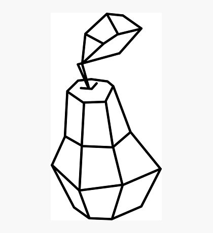 pea Vector illustration, polygonal design black and white drawing Photographic Print