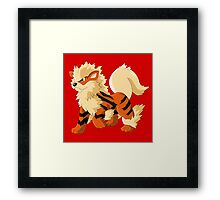 Pokemon Go Arcanine (T-Shirts, Phone cases and more) Framed Print