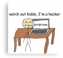 """hacker"" Canvas Print"