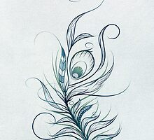 Peacock Feather by LouJah-