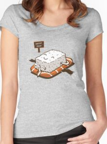 NUDIST FOOD Women's Fitted Scoop T-Shirt