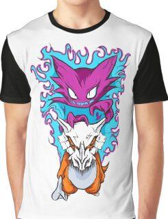 The Haunting -  Cubone & Haunter Fanart Graphic T-Shirt