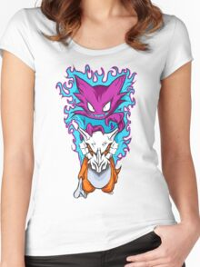 The Haunting -  Cubone & Haunter Fanart Women's Fitted Scoop T-Shirt