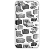 Repeating Pattern Vintage Luggage iPhone Case/Skin