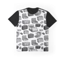 Repeating Pattern Vintage Luggage Graphic T-Shirt