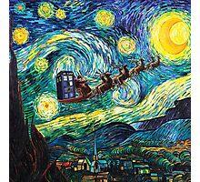 Tardis Santa Starry Night Photographic Print