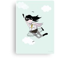 Mighty girl saves the day! Canvas Print