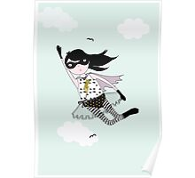 Mighty girl saves the day! Poster
