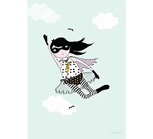 Mighty girl saves the day! Photographic Print