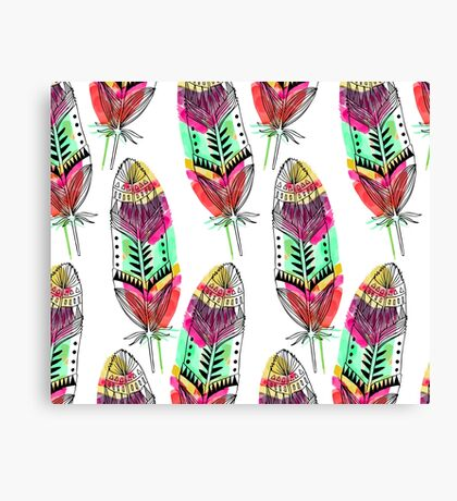 Hippie Feathers Canvas Print