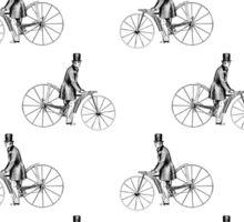 Vintage Bicycle Repeating Pattern  Sticker