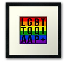 LGBTTQQIAAP+ Framed Print