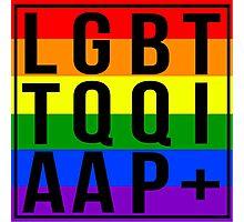 LGBTTQQIAAP+ Photographic Print