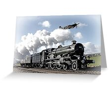 Spitfire and Nunney castle Greeting Card