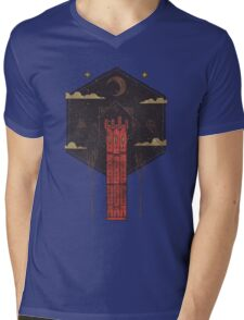 The Crimson Tower Mens V-Neck T-Shirt