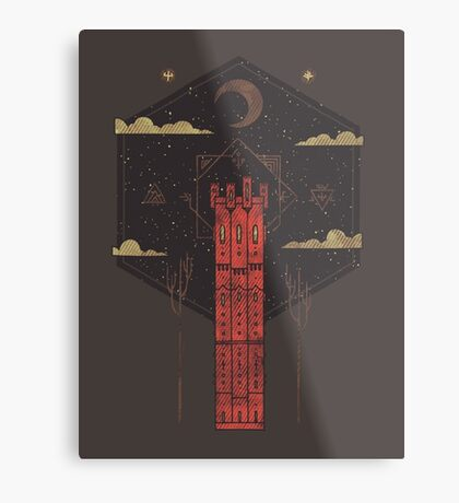The Crimson Tower Metal Print