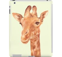 Watercolor Portrait of Giraffe iPad Case/Skin