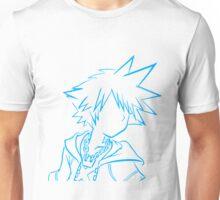 Sora bust lineart light blue Unisex T-Shirt