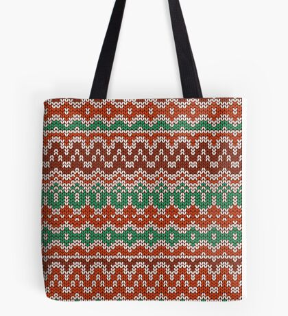 Colorful seamless knitting pattern. Warm traditional  texture. Winter wallpaper.  Tote Bag