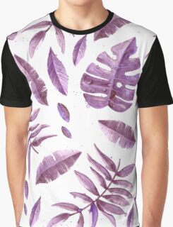 Purple Leaves Graphic T-Shirt