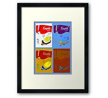 4 campbell's soup boxes Framed Print