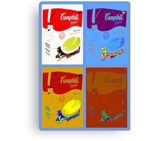 4 campbell's soup boxes Canvas Print