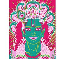 Vishnu in pink and green Photographic Print