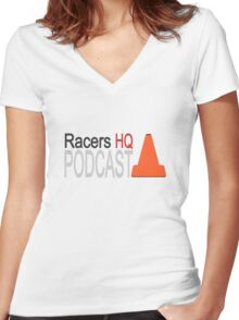 Podcast Fan Women's Fitted V-Neck T-Shirt