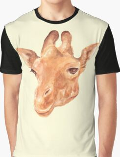 head of Giraffe. watercolor Graphic T-Shirt