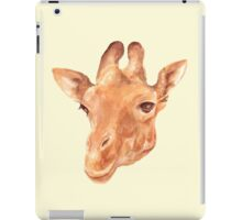 head of Giraffe. watercolor iPad Case/Skin
