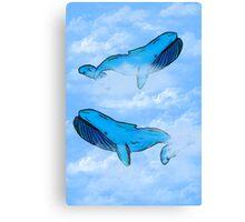 Sky Whales Canvas Print