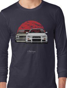 Nissan Skyline (R34 & Hakosuka) Long Sleeve T-Shirt