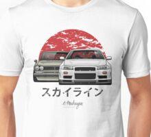 Nissan Skyline (R34 & Hakosuka) Unisex T-Shirt