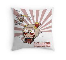 Adventure On Titan Throw Pillow